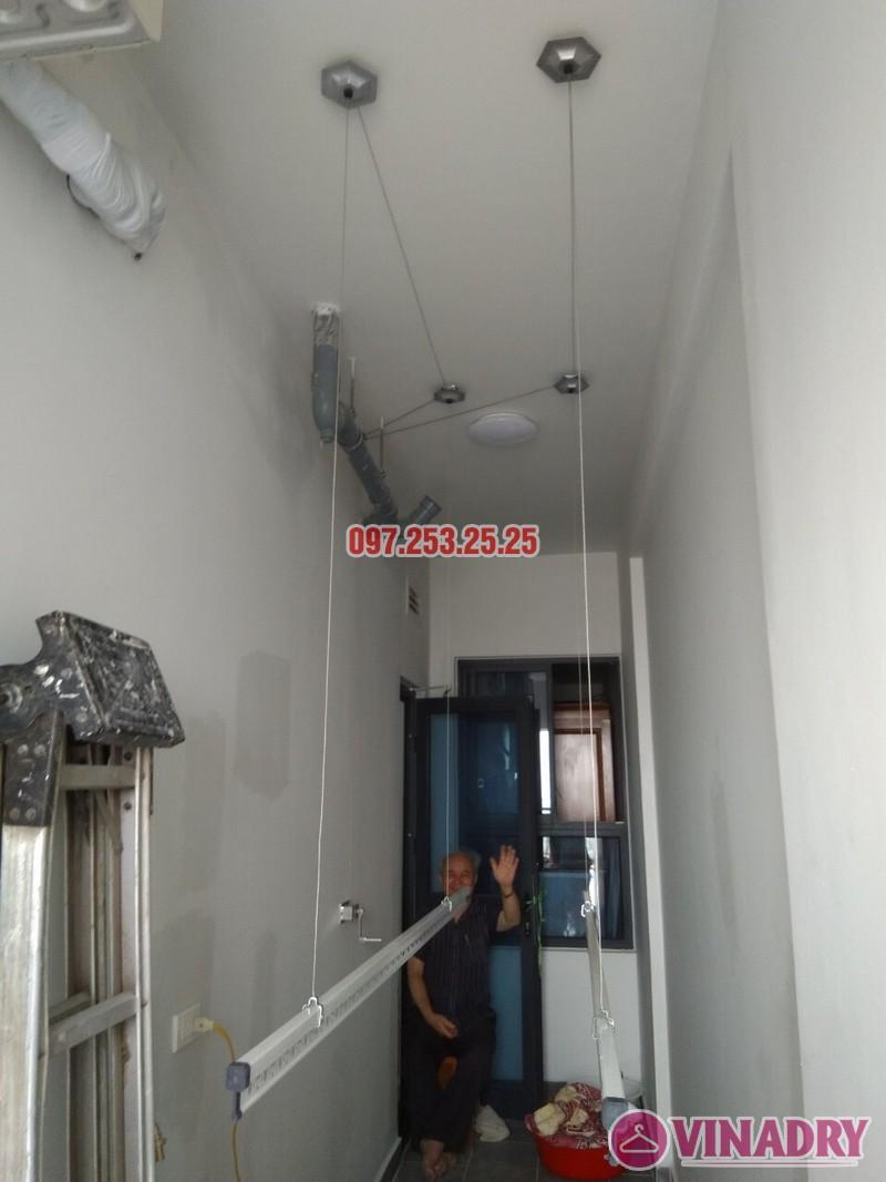Lắp đặt giàn phơi thông minh tại Gold Mark City nhà chú Hà, tòa R3 - 04