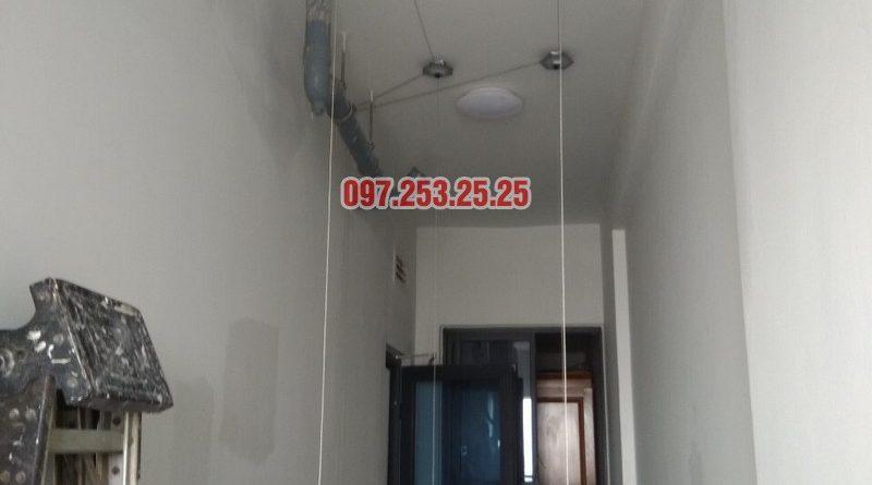 Lắp đặt giàn phơi thông minh tại Gold Mark City nhà chú Hà, tòa R3 - 05