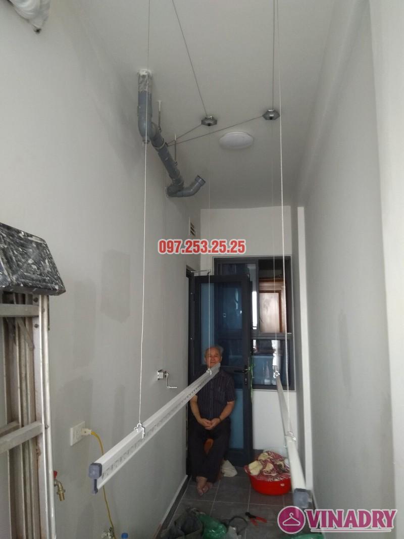 Lắp đặt giàn phơi thông minh tại Gold Mark City nhà chú Hà, tòa R3 - 06