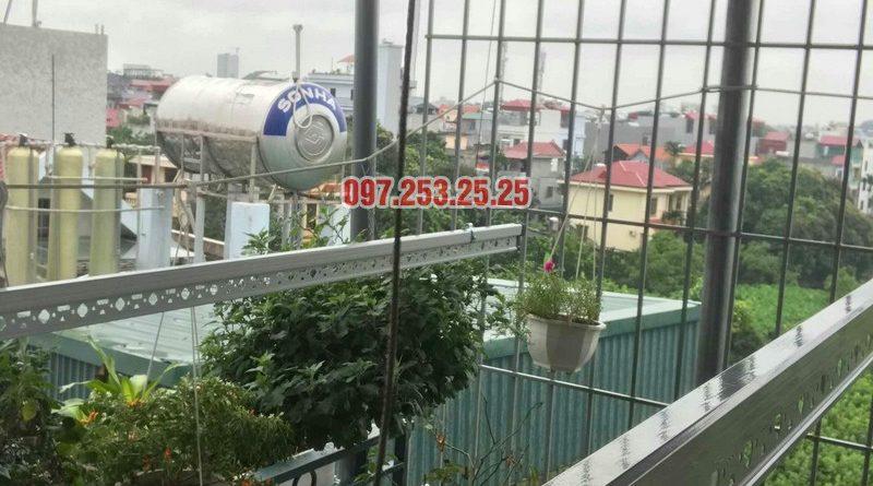 Lắp giàn phơi cho trần mái tôn nhà chú Tâm, 316 Ngọc Thụy, Long Biên, Hà Nội - 01