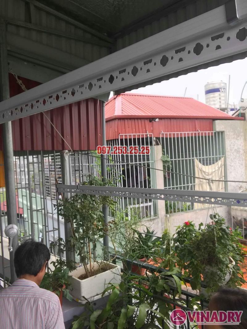 Lắp giàn phơi cho trần mái tôn nhà chú Tâm, 316 Ngọc Thụy, Long Biên, Hà Nội - 02