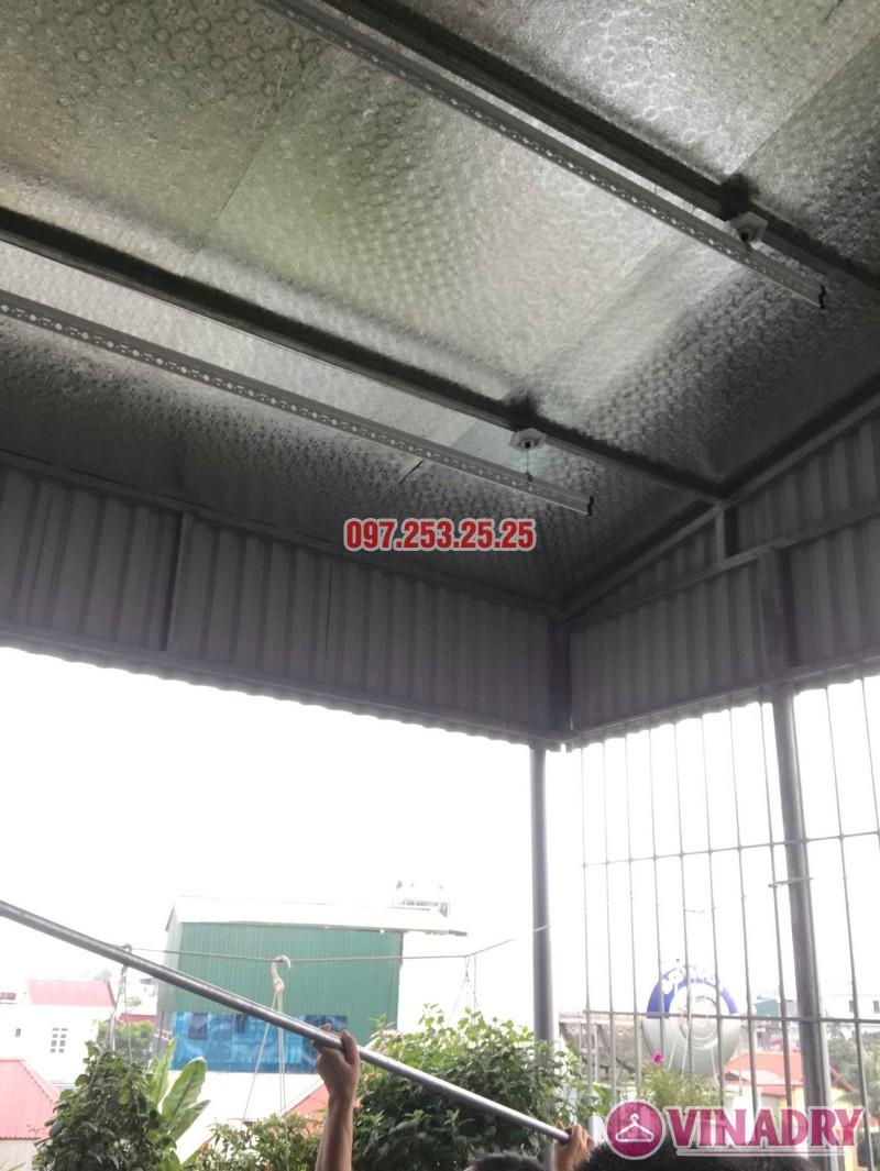 Lắp giàn phơi cho trần mái tôn nhà chú Tâm, 316 Ngọc Thụy, Long Biên, Hà Nội - 07