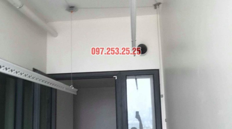 Lắp giàn phơi Hòa Phát KS990 nhà chị Ban, chung cư 789 Bộ Quốc Phòng - 03