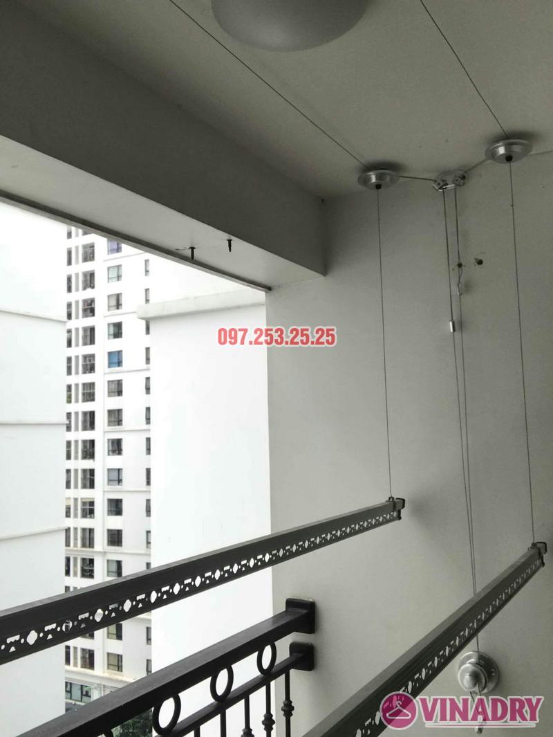 Lắp đặt giàn phơi thông minh nhà chị Quỳnh, tòa T11, Times City - 01