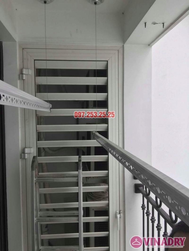 Lắp đặt giàn phơi thông minh nhà chị Quỳnh, tòa T11, Times City - 04