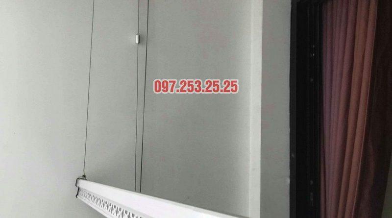 Lắp đặt giàn phơi thông minh nhà chị Quỳnh, tòa T11, Times City - 05
