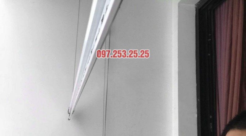 Lắp đặt giàn phơi thông minh nhà chị Quỳnh, tòa T11, Times City - 06