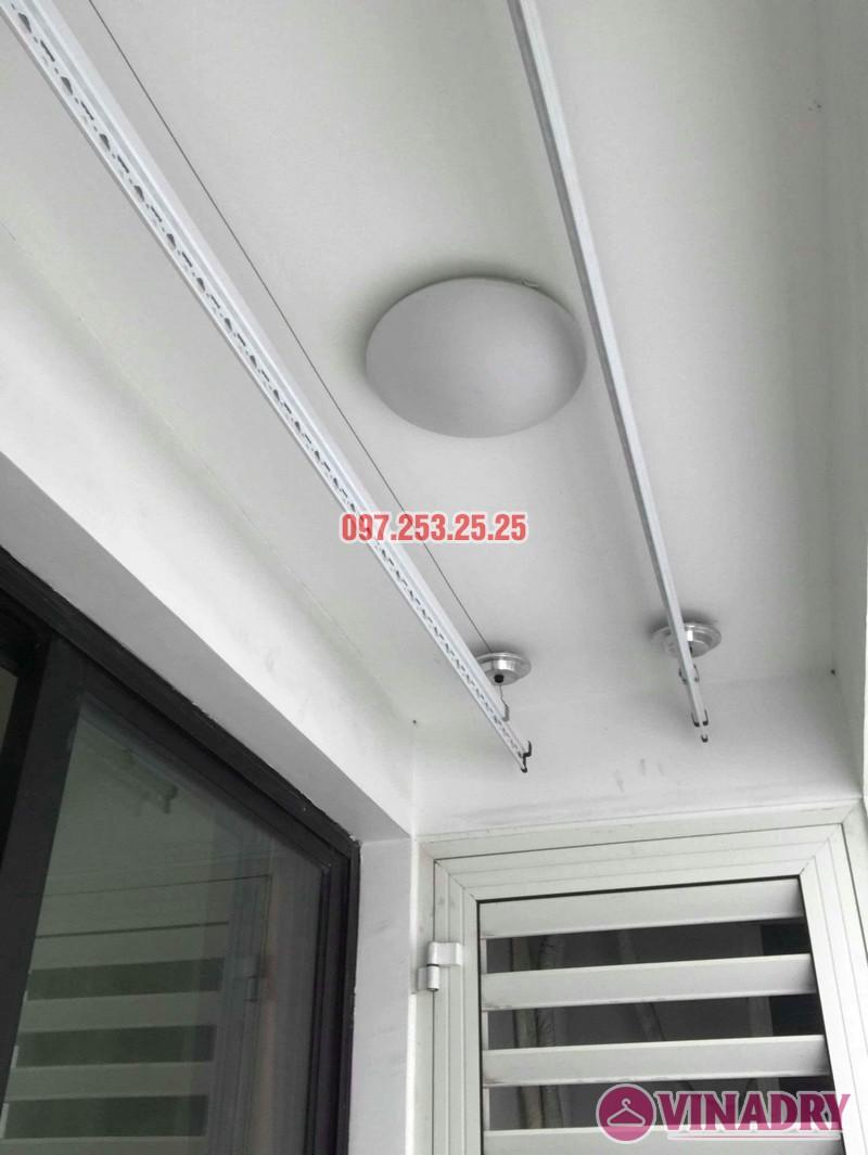 Lắp đặt giàn phơi thông minh nhà chị Quỳnh, tòa T11, Times City - 07