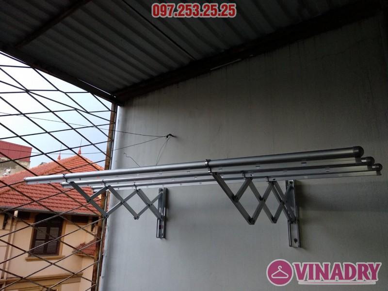 Lắp giàn phơi thông minh kéo ngang nhà chị Khanh, số 17, ngách 162/4 Đông Thiên, Hoàng Mai - 01