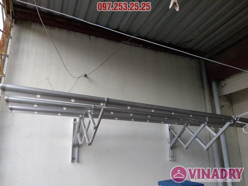 Lắp giàn phơi thông minh kéo ngang nhà chị Khanh, số 17, ngách 162/4 Đông Thiên, Hoàng Mai - 04