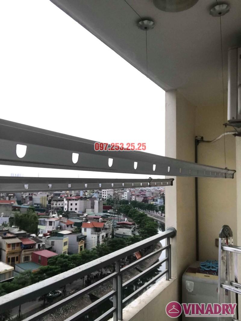 Thay dây cáp giàn phơi thông minh nhà chị Bảo, chung cư CT1 Nam Đô Complex - 01