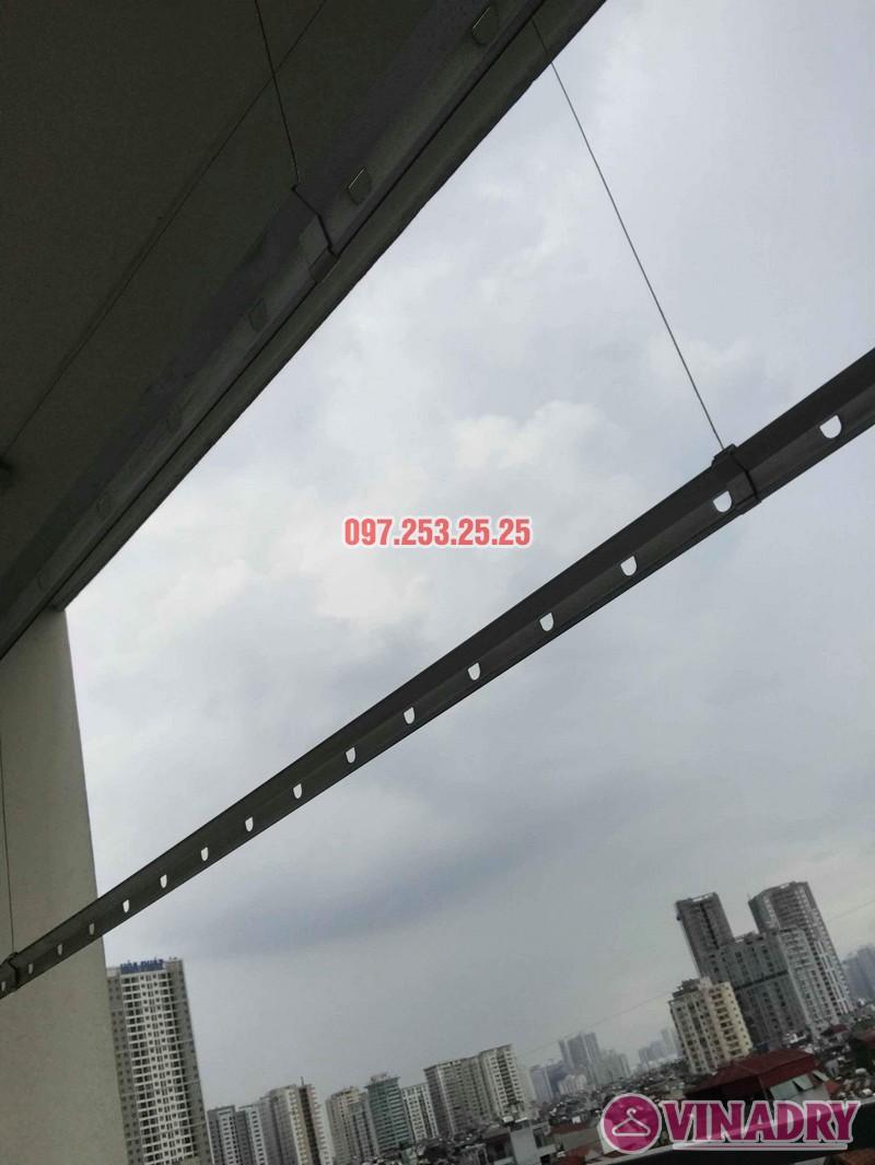 Thay dây cáp giàn phơi thông minh nhà chị Bảo, chung cư CT1 Nam Đô Complex - 03
