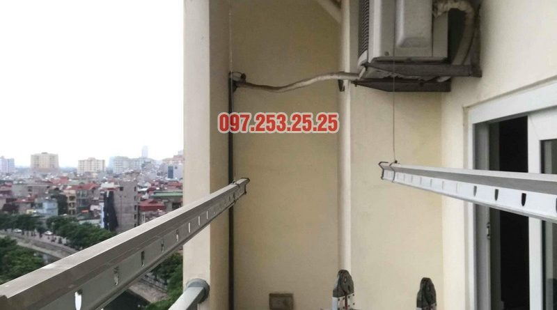 Thay dây cáp giàn phơi thông minh nhà chị Bảo, chung cư CT1 Nam Đô Complex - 06