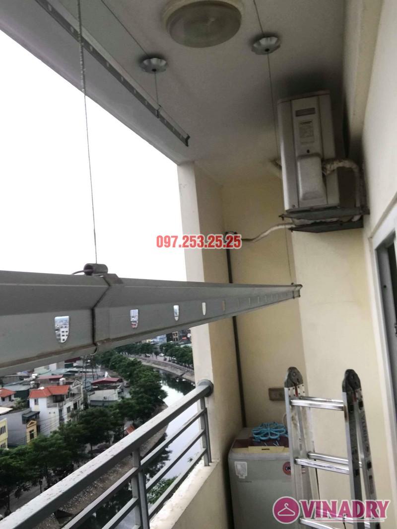 Thay dây cáp giàn phơi thông minh nhà chị Bảo, chung cư CT1 Nam Đô Complex - 07