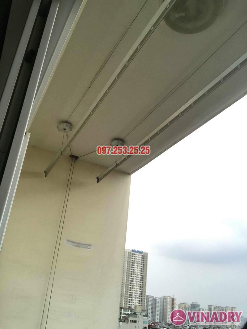 Thay dây cáp giàn phơi thông minh nhà chị Bảo, chung cư CT1 Nam Đô Complex - 08