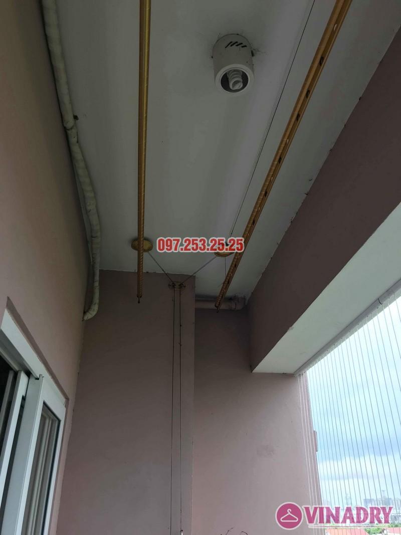 Sửa giàn phơi thông minh giá rẻ tại Long Biên nhà chị Hậu, chung cư Green House Việt Hưng - 01