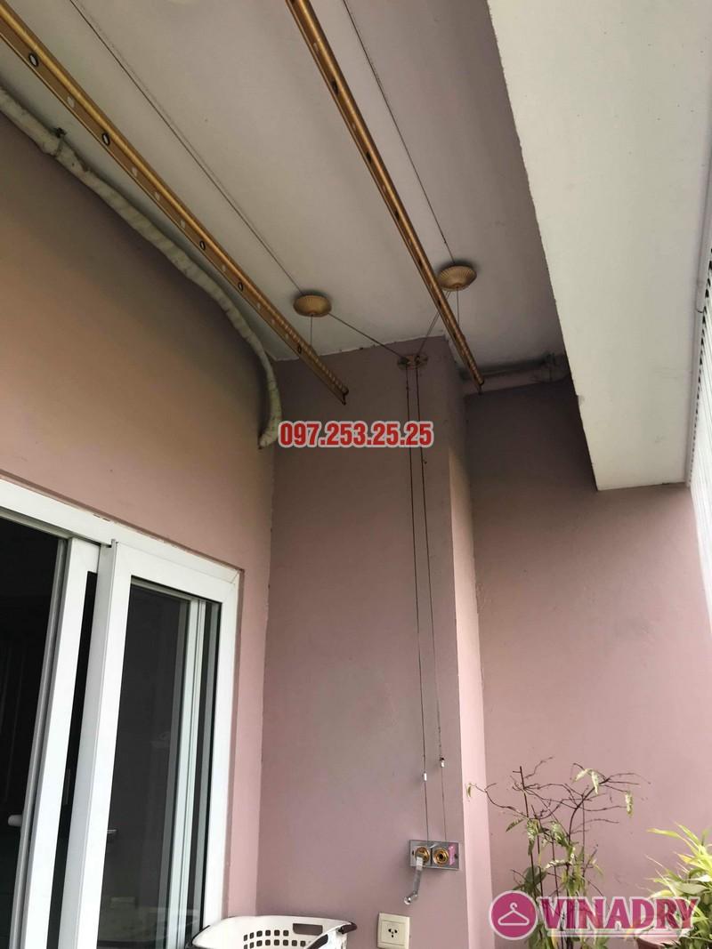Sửa giàn phơi thông minh giá rẻ tại Long Biên nhà chị Hậu, chung cư Green House Việt Hưng - 02