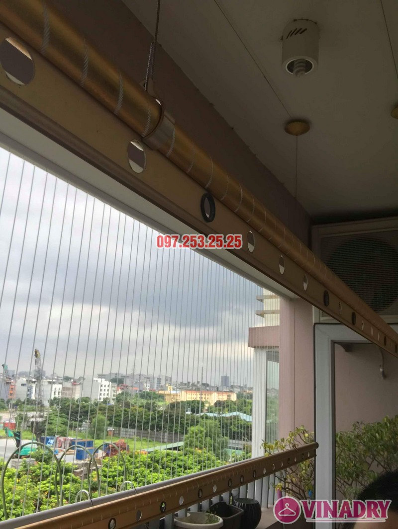 Sửa giàn phơi thông minh giá rẻ tại Long Biên nhà chị Hậu, chung cư Green House Việt Hưng - 04