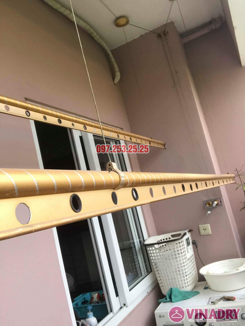 Sửa giàn phơi thông minh giá rẻ tại Long Biên nhà chị Hậu, chung cư Green House Việt Hưng - 07