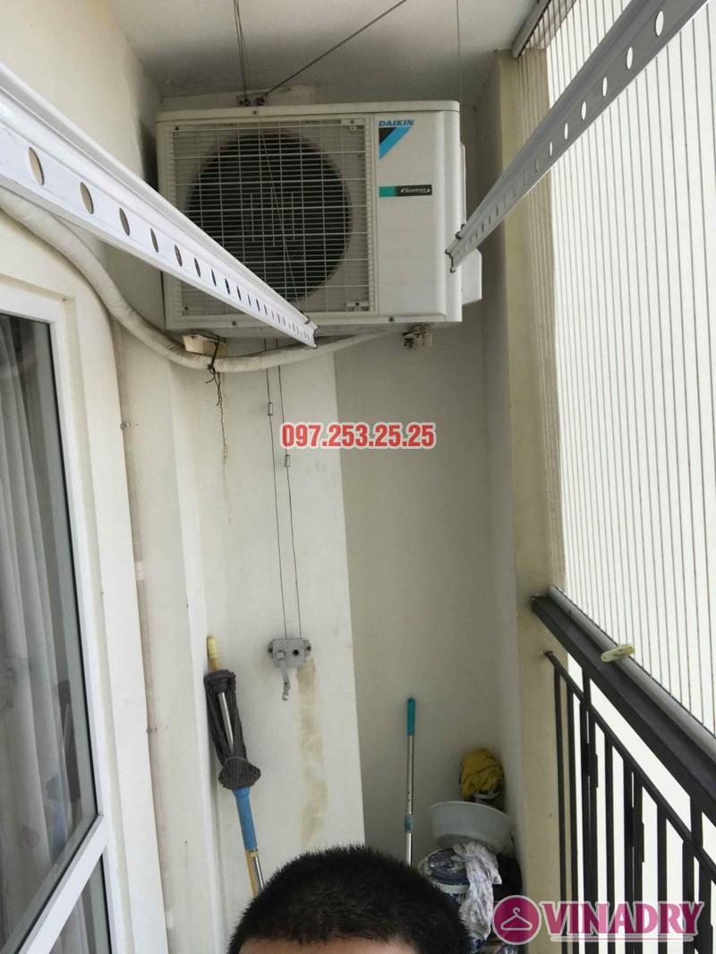 Sửa giàn phơi giá rẻ quận Long Biên nhà chị Hậu, Tòa HH2A Gia Thụy, 562 Nguyễn Văn Cừ - 03