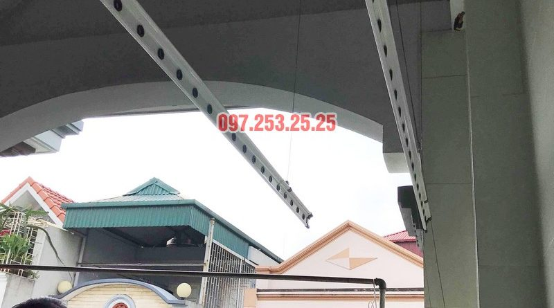 Sửa giàn phơi thông minh tại Tây Hồ nhà chú Thạc, Ngõ 68 An Dương - 05