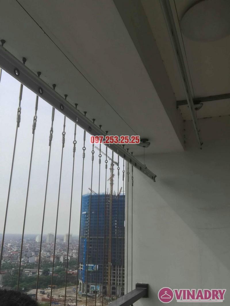 Sửa giàn phơi quần áo nhập khẩu nhà chị Thành, Tòa 8 Times City - 02