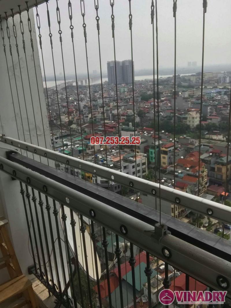 Sửa giàn phơi quần áo nhập khẩu nhà chị Thành, Tòa 8 Times City - 04