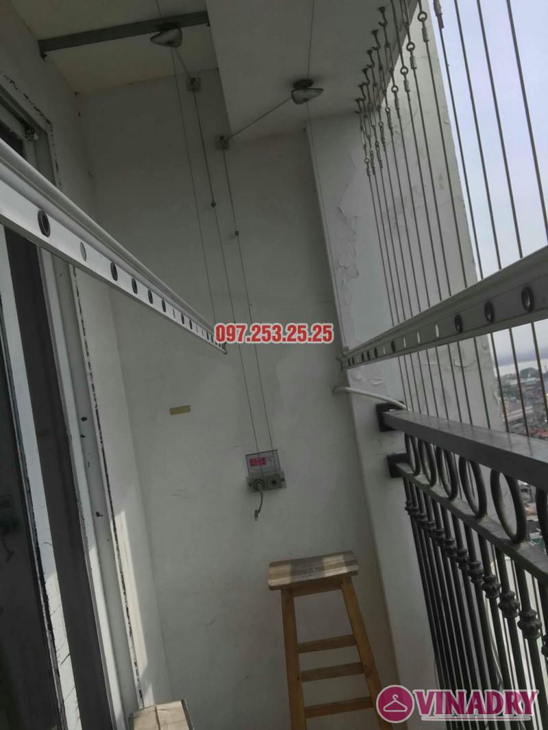 Sửa giàn phơi quần áo nhập khẩu nhà chị Thành, Tòa 8 Times City - 06