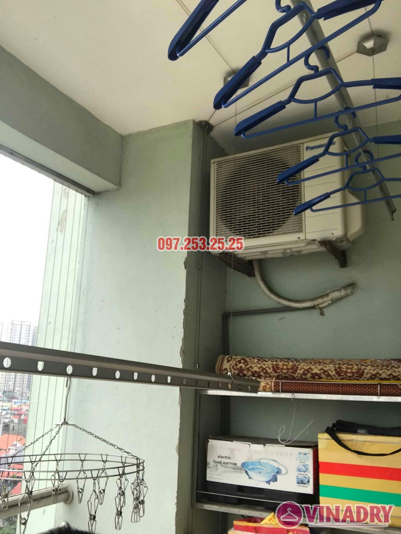 Sửa giàn phơi quần áo tại Hoàng Mai nhà chị Hằng, chung cư 18 Tam Trinh - 05
