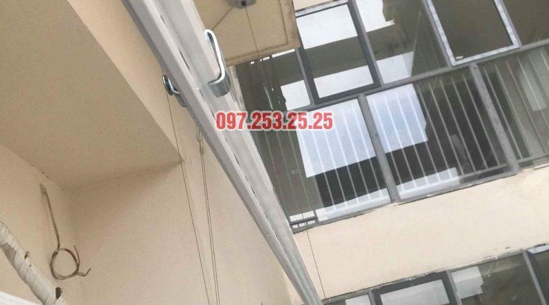 Lắp giàn phơi quần áo tại Long Biên nhà anh Tính, chung cư ngõ 390 Ngô Gia Tự - 05