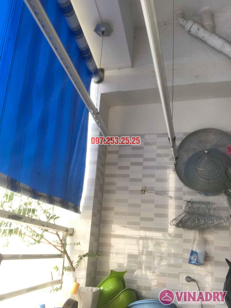 Thay dây cáp giàn phơi quần áo nhà chú Minh, VP6 Linh Đàm, Hoàng Mai, Hà Nội - 02