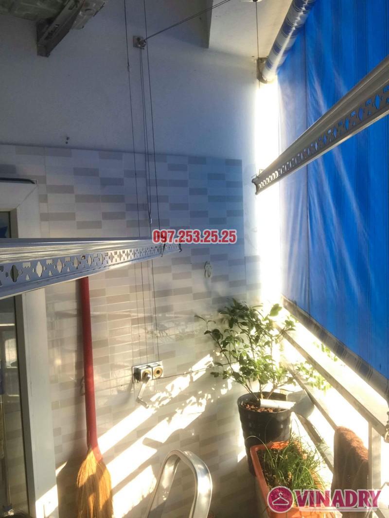Thay dây cáp giàn phơi quần áo nhà chú Minh, VP6 Linh Đàm, Hoàng Mai, Hà Nội - 05