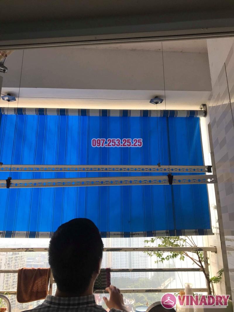 Thay dây cáp giàn phơi quần áo nhà chú Minh, VP6 Linh Đàm, Hoàng Mai, Hà Nội - 06
