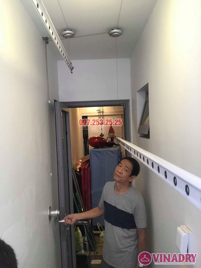 Sửa giàn phơi thông minh giá rẻ tại Hà Nội nhà anh Tiến, Park Hill Times City - 01