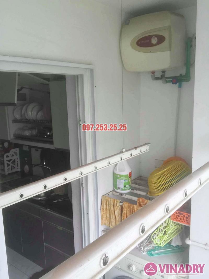 Sửa giàn phơi giá rẻ tại Hà Nội nhà anh Ba, chung cư Vườn Đào, 689 Lạc Long Quân - 01