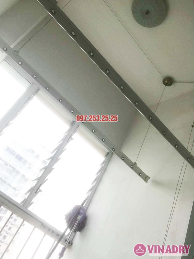 Sửa giàn phơi giá rẻ tại Hà Nội nhà anh Ba, chung cư Vườn Đào, 689 Lạc Long Quân - 02