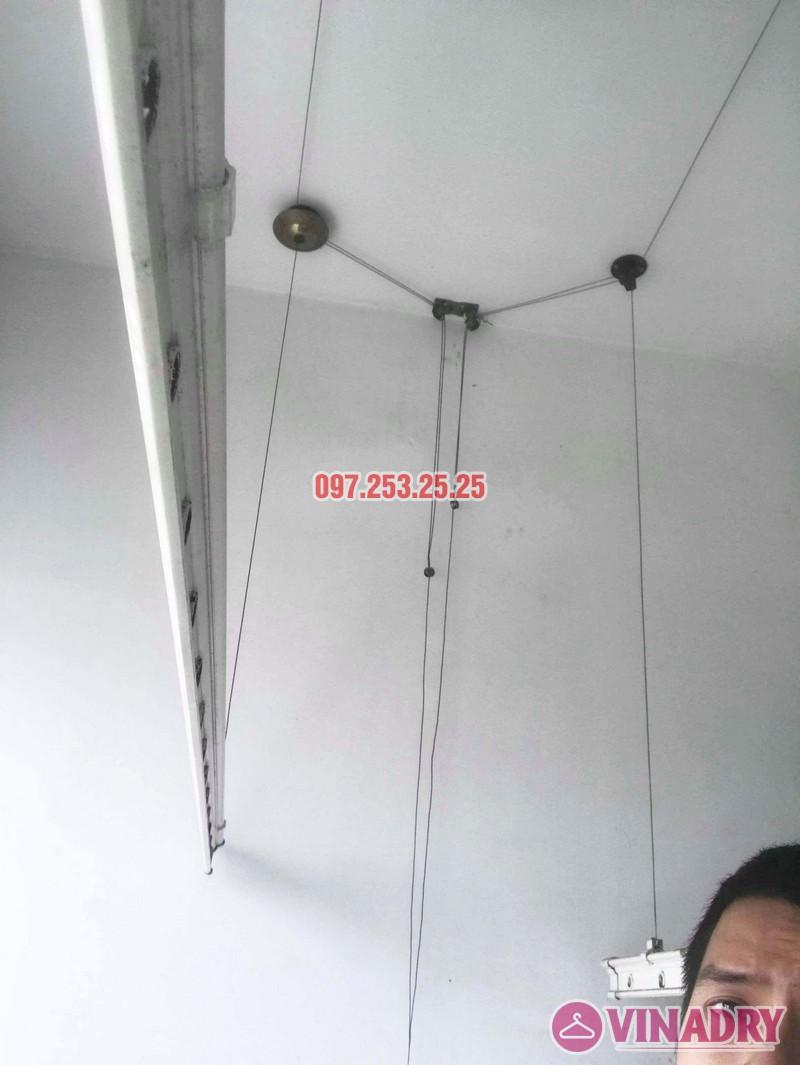 Sửa giàn phơi giá rẻ tại Hà Nội nhà anh Ba, chung cư Vườn Đào, 689 Lạc Long Quân - 03