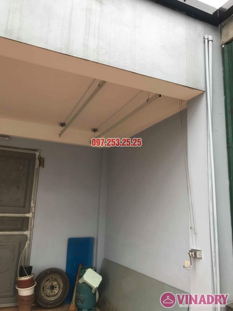 Lắp giàn phơi thông minh giá rẻ nhà chị Mai, 191 Thạch Bàn, Long Biên, Hà Nội - 05