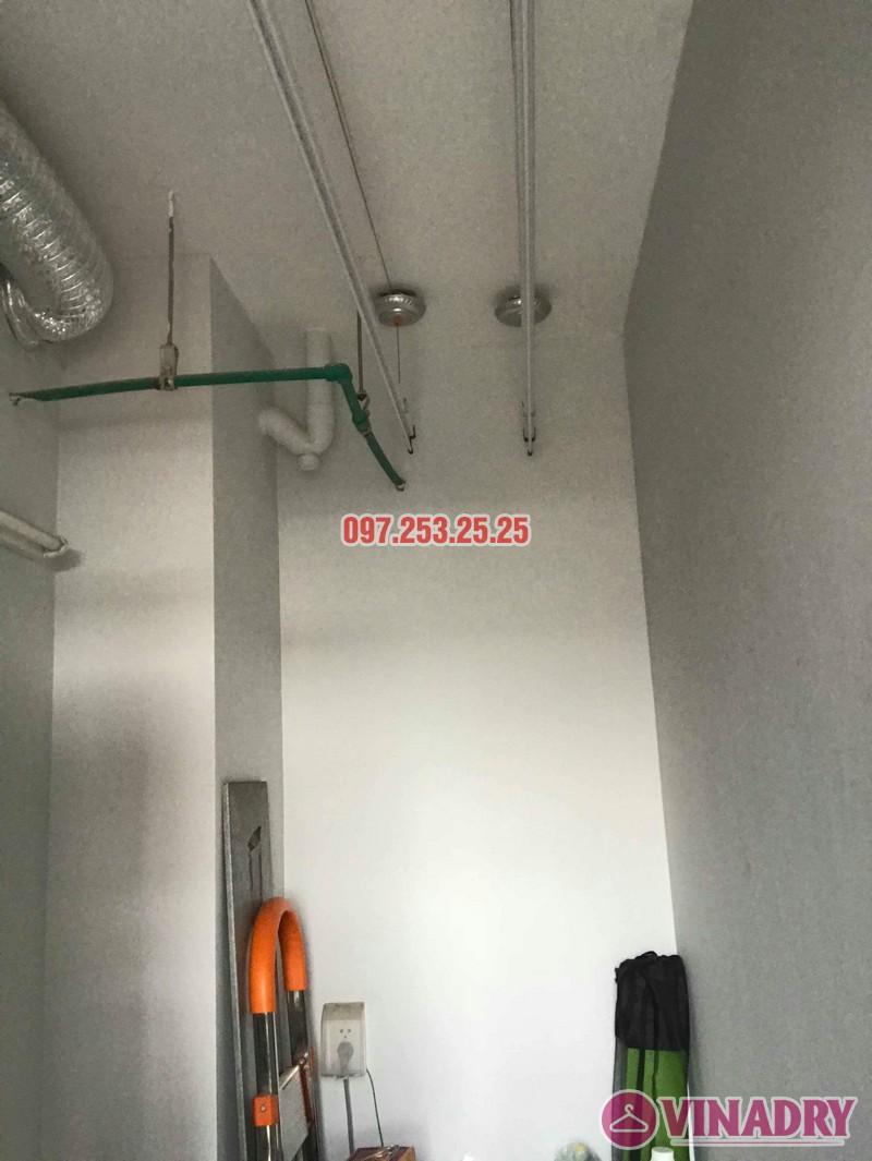 Lắp giàn phơi quần áo tại Hoàng Mai nhà chị Hảo, chung cư S12A, KĐT Gamuda Garden - 03