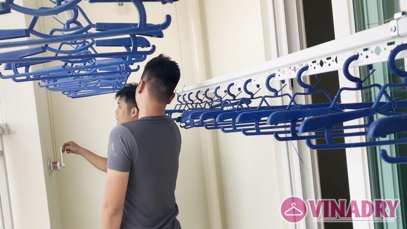 Lắp giàn phơi thông minh Hà Đông nhà anh Mạnh, chung cư quốc tế CT17 Boo Young - 08