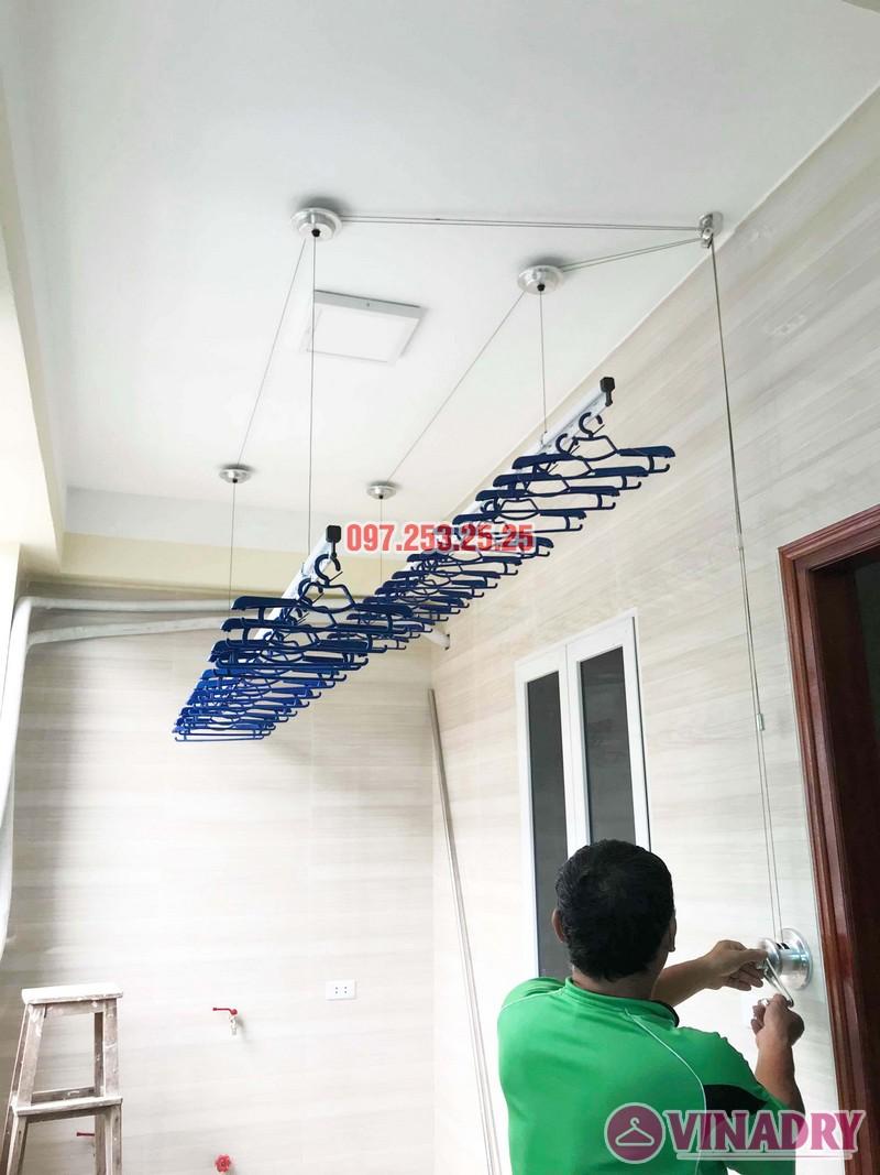 Giàn phơi Hòa Phát Air HP701 lắp tại nhà anh Hoàn, chung cư Học viện Hậu Cần - 01