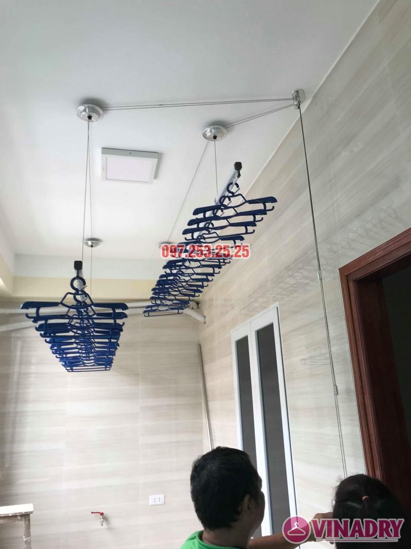 Giàn phơi Hòa Phát Air HP701 lắp tại nhà anh Hoàn, chung cư Học viện Hậu Cần - 06