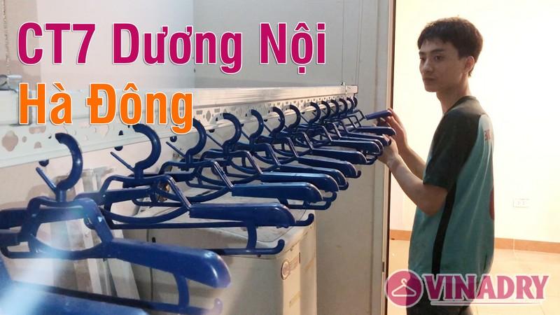 Lắp giàn phơi Hòa Phát tại Hà Đông nhà anh Hữu, chung cư CT7 Dương Nội - 07