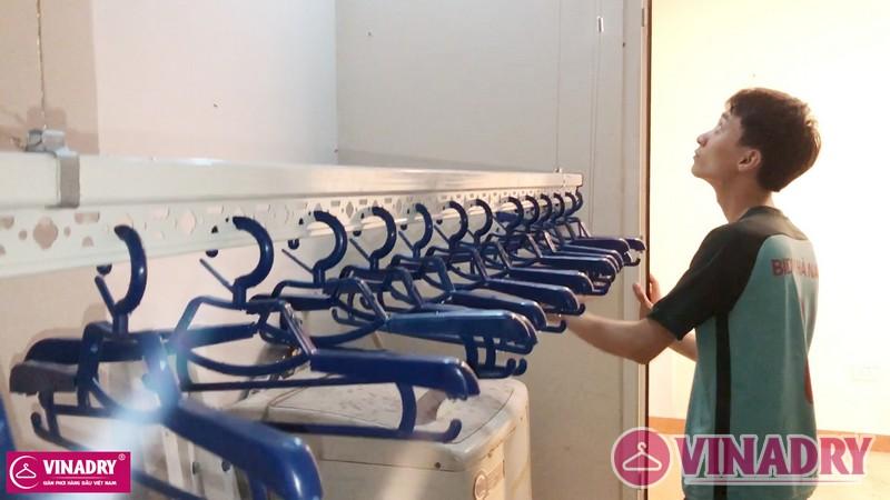 Lắp giàn phơi Hòa Phát tại Hà Đông nhà anh Hữu, chung cư CT7 Dương Nội - 06