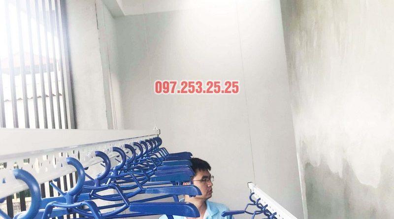 Lắp giàn phơi thông minh Hòa Phát nhà anh Tiến, xã Đa Tốn, Gia Lâm, Hà Nội - 04