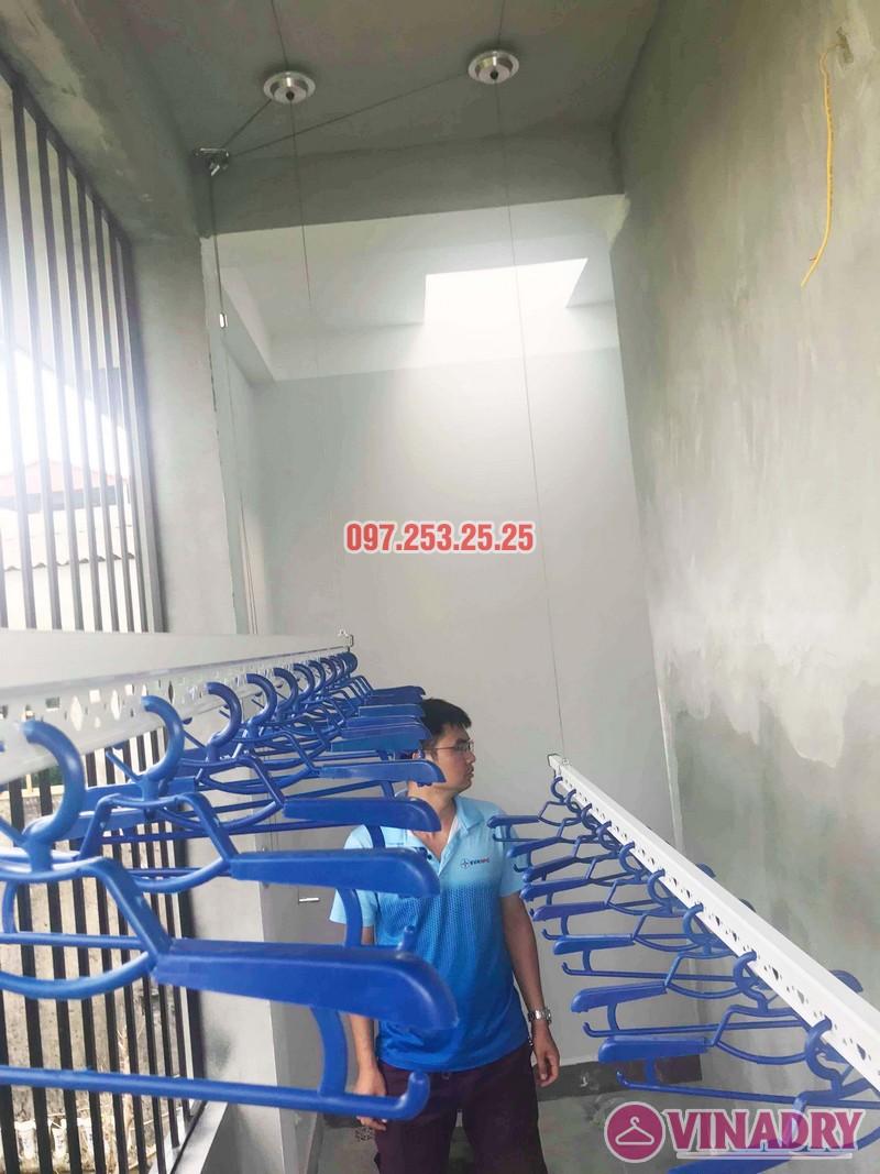 Lắp giàn phơi thông minh Hòa Phát nhà anh Tiến, xã Đa Tốn, Gia Lâm, Hà Nội - 06