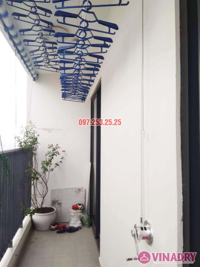 Lắp giàn phơi Hòa Phát nhà chị Nhàn, căn 1801, tòa G2 chung cư Five Star Garden - 02