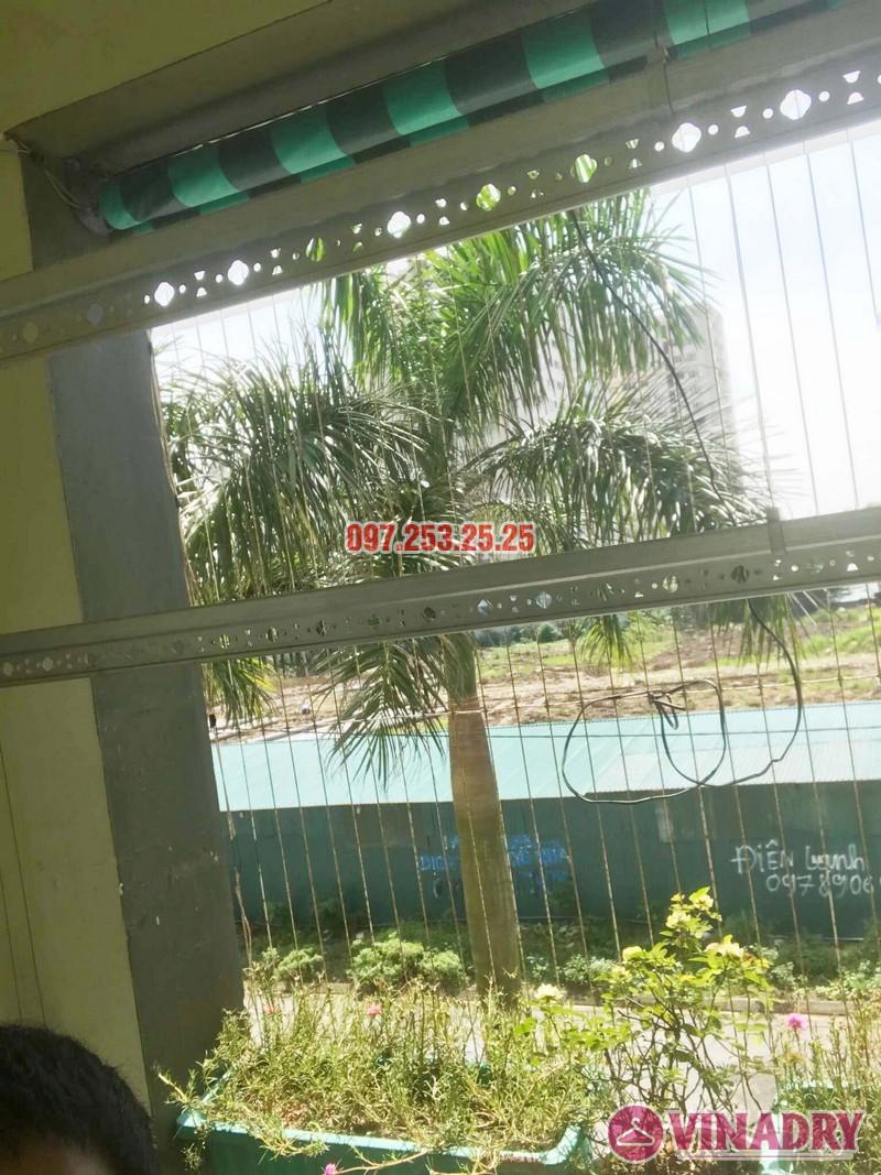 Lắp giàn phơi Hòa Phát 999B nhà anh Minh, Tòa nhà HH2 Gia Thụy, Long Biên - 04