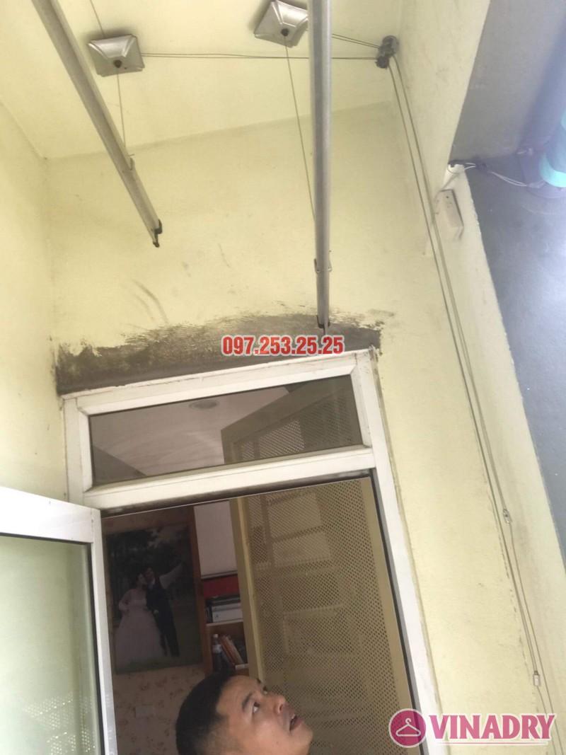 Lắp giàn phơi Hòa Phát 999B nhà anh Minh, Tòa nhà HH2 Gia Thụy, Long Biên - 06