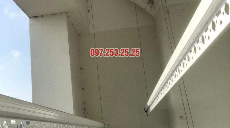 Lắp giàn phơi Hòa Phát giá rẻ nhà anh Mỹ, chung cư HH3 Linh Đàm, Hà Nội - 02
